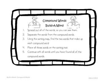 Compound Words: Build A Word 2nd Grade Common Core