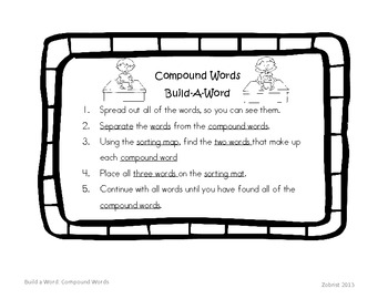 Compound Words: Build a Word First Grade Common Core