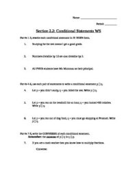 Conditional Statement Worksheet Worksheets For School ...