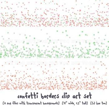confetti border clip art