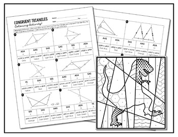 Congruent Triangles Coloring Activity by All Things