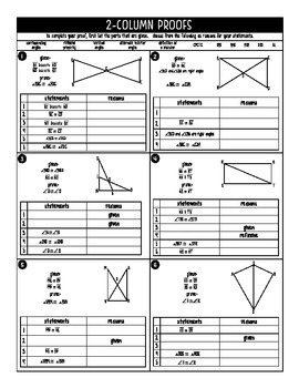 Congruent Triangles Practice and Proofs Geometry by miss