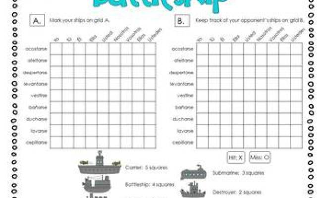 Conjugate Reflexive Verbs Spanish Battleship Game By The