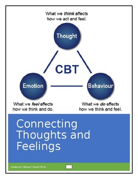 Connecting Thoughts And Feelings Worksheets By Psyched For