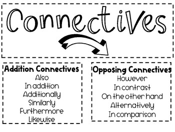Connectives Display: List of Connectives by Stories of