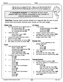 Conservation of Energy and Resources Workbook (Grade 5
