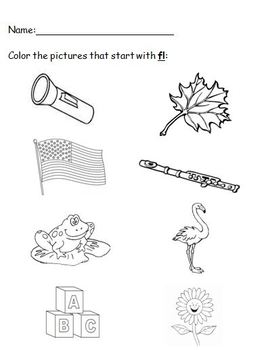 Consonant Blend Discrimination Coloring Sheets by