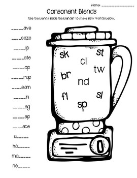 Consonant Blends Practice by Teaching with Love and Coffee