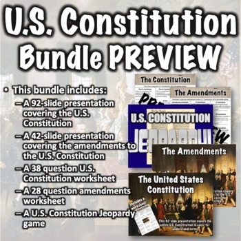 Constitution + Amendments Bundle by Middle School History