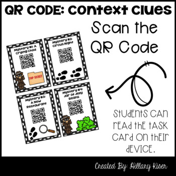 QR Code Context Clues: 5th and 6th Grade (Distance