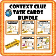 Context Clue Task Card Growing Bundle