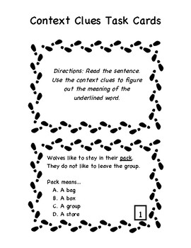 Context Clues Activities (NO PREP) by The Adventure Called
