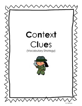 Context Clues Activity Pack (Vocabulary Strategy) by Where