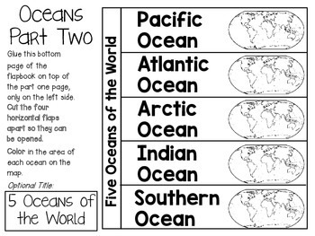 Continents and Oceans of the World ~ Social Studies