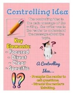 Controlling idea anchor chart writing also tpt rh teacherspayteachers
