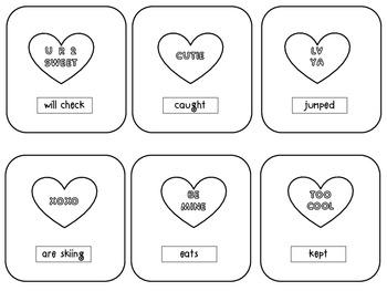 Valentine's Day Verb Tenses-Future, Present, Past