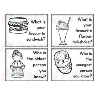 Conversation Starters Task Cards Social Skills by Teaching