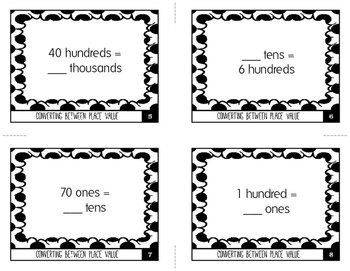 Converting Between Place Values: Ones, Tens, Hundreds