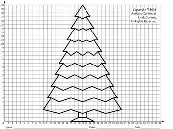 Christmas Tree (Middle School), Coordinate Drawing