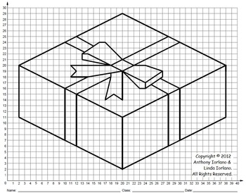 Present, Holiday, Coordinate Drawing, Coordinate Graphing
