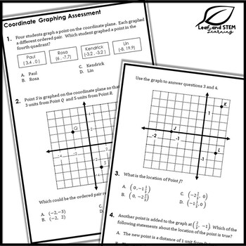 Coordinate Graphing in All Quadrants Interactive Notebook