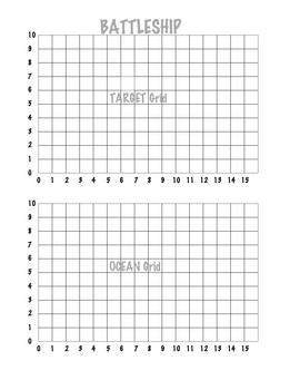 Coordinate Grid Battleship (1 Quadrant) By Sarah Gilbert  Tpt