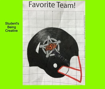 Coordinate Plane Pictures (Football Helmet) by Kevin Wilda