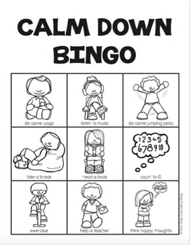Coping Skills Bingo Game (2 different versions!) by One