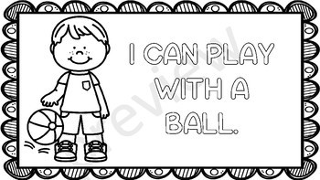 Coping Skills Coloring Pages with I Can Statements by