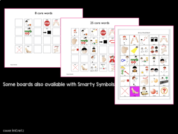 AAC Core Vocabulary No Prep Picture Communication Boards
