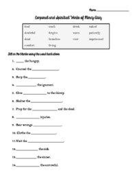 Corporal and Spiritual Works of Mercy Worksheet and Quiz ...