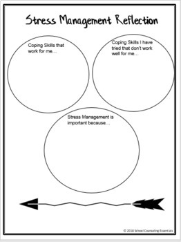 Stress Management Scenarios Activity-Task Cards for Middle
