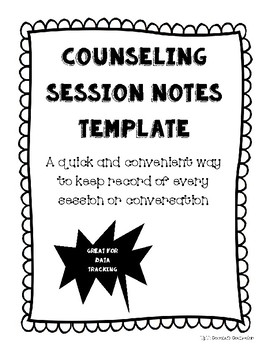 Counseling Session/Conversation Notes Template by Coconut