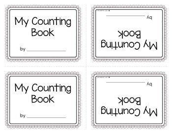 Counting 1-10: Make Your Own Number Book for Preschool and