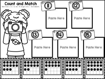 Counting 11-20 Color, Cut, and Paste Math Journal for