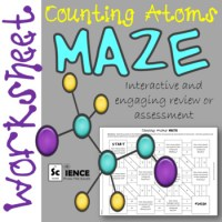 Counting Atoms in Chemical Formulas Maze Worksheet for ...