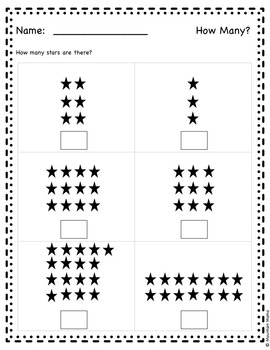 Counting & Cardinality Math Numbers Common Core Printables