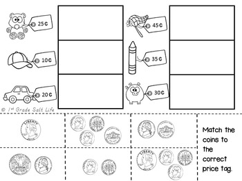 Money and Counting Coins VA SOL 1.8 by 1st Grade Salt Life
