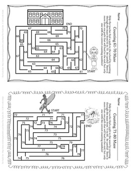 Counting Mazes for Young Mathematicians by The Puzzle Den