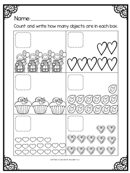 Counting Sets to 20: Valentine's Day Theme by Glitter and