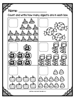 Counting Sets to 20: Halloween Theme by Glitter and Glue 4