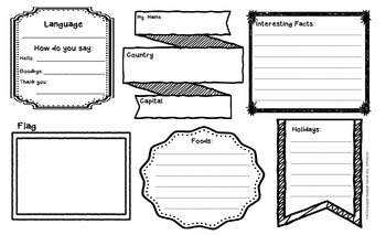 Countries Around The World Graphic Organizer by The