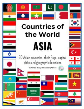 countries of asia flags