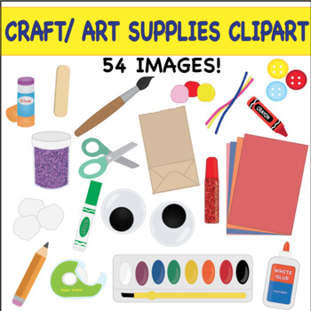 Craft And Art Supplies Clipart By Taco Bout It Speech Fun Tpt