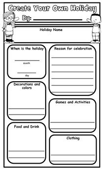 Create Your Own Holiday Graphic Organizer and Presentation