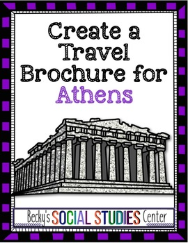 Travel Brochure Of Classical Athens Ancient Greece During Golden Age