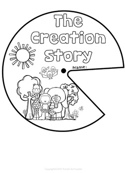 Creation Bible Story: Spinner Templates by Ponder and