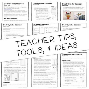 Creativity in the Classroom! {Tips, Tools, & Printable