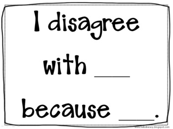 Critical Thinking Language Sentence Frames {Say What