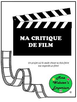 Faire Une Critique De Film : faire, critique, Critique, French, Movie, Review, Webster's, Emporium